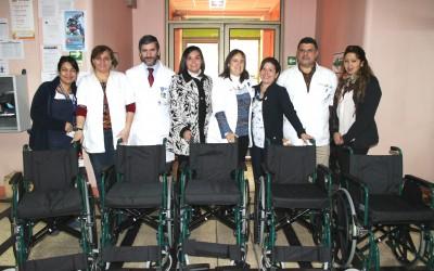 Coar donó sillas de ruedas para  los niños de  nuestro hospital