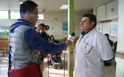 Prensa en nuestro Hospital: referentes en campaña de invierno y contaminación