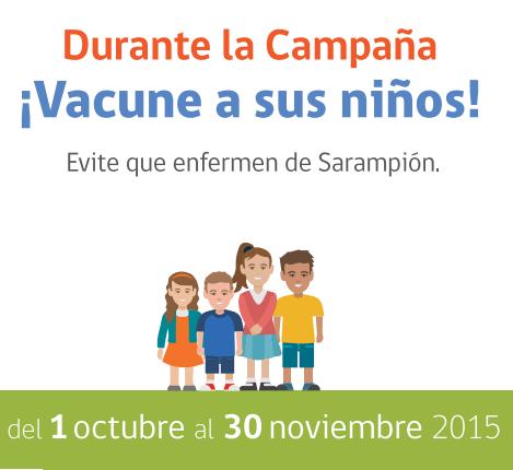 Campaña nacional de Vacunación para la eliminación del sarampión