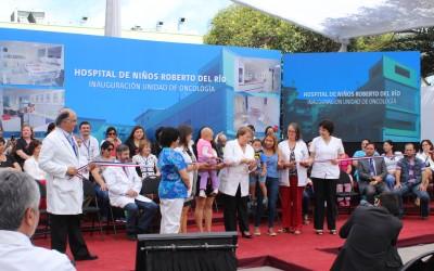 Presidenta Michelle Bachelet inaugura nuevo edifico de la Unidad de Oncología