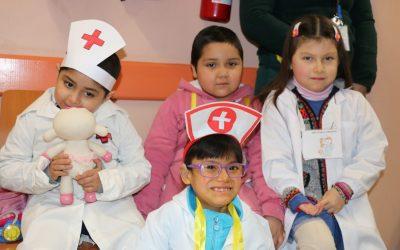 Niños de Escuela Hospitalaria realizan intervención ciudadana
