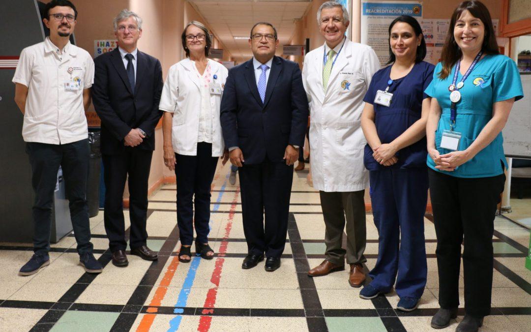 Profesionales de la ONU y del Ministerio del Interior visitaron el Hospital Roberto del Río