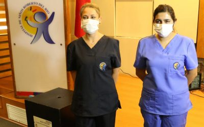 Donación de 500 trajes clínicos para funcionarios del Hospital Roberto del Río