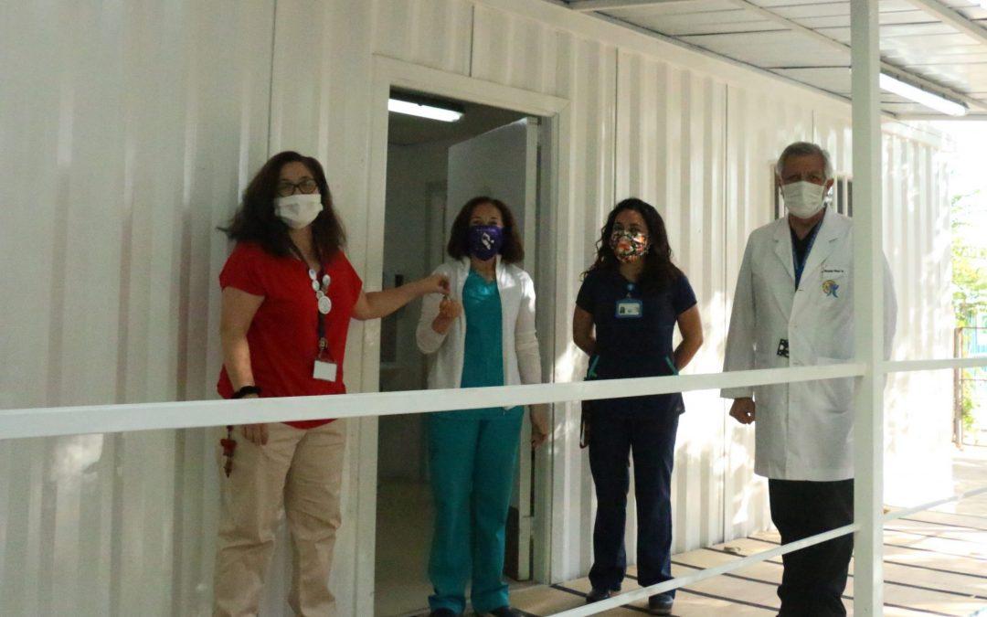 Inauguramos proceso de separación de consulta respiratoria