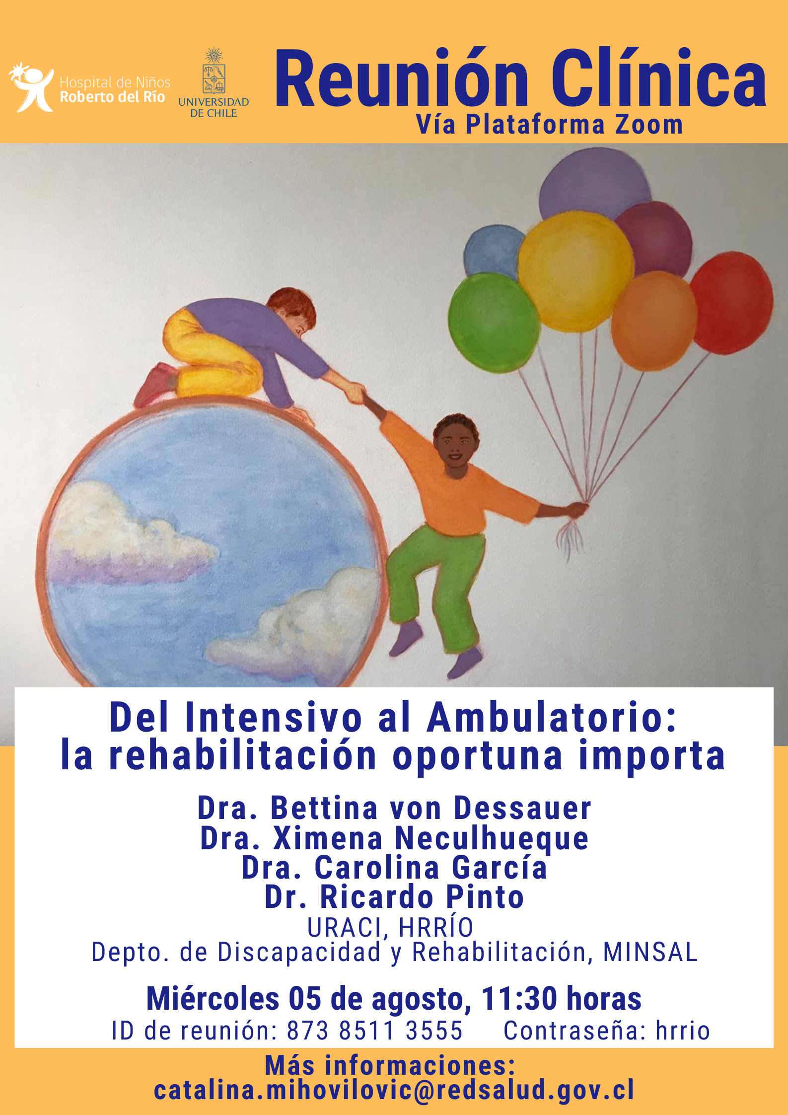 """Tema: """"Del Intensivo al Ambulatorio: la rehabilitación oportuna importa"""""""