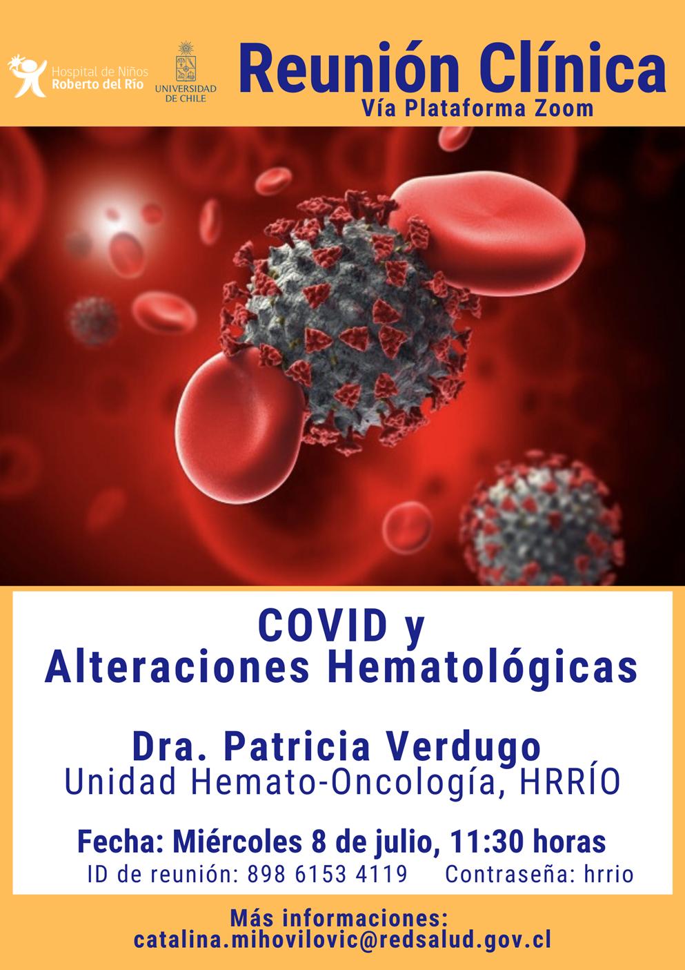"""Tema: """"Covid-19 y Alteraciones Hematológicas"""""""