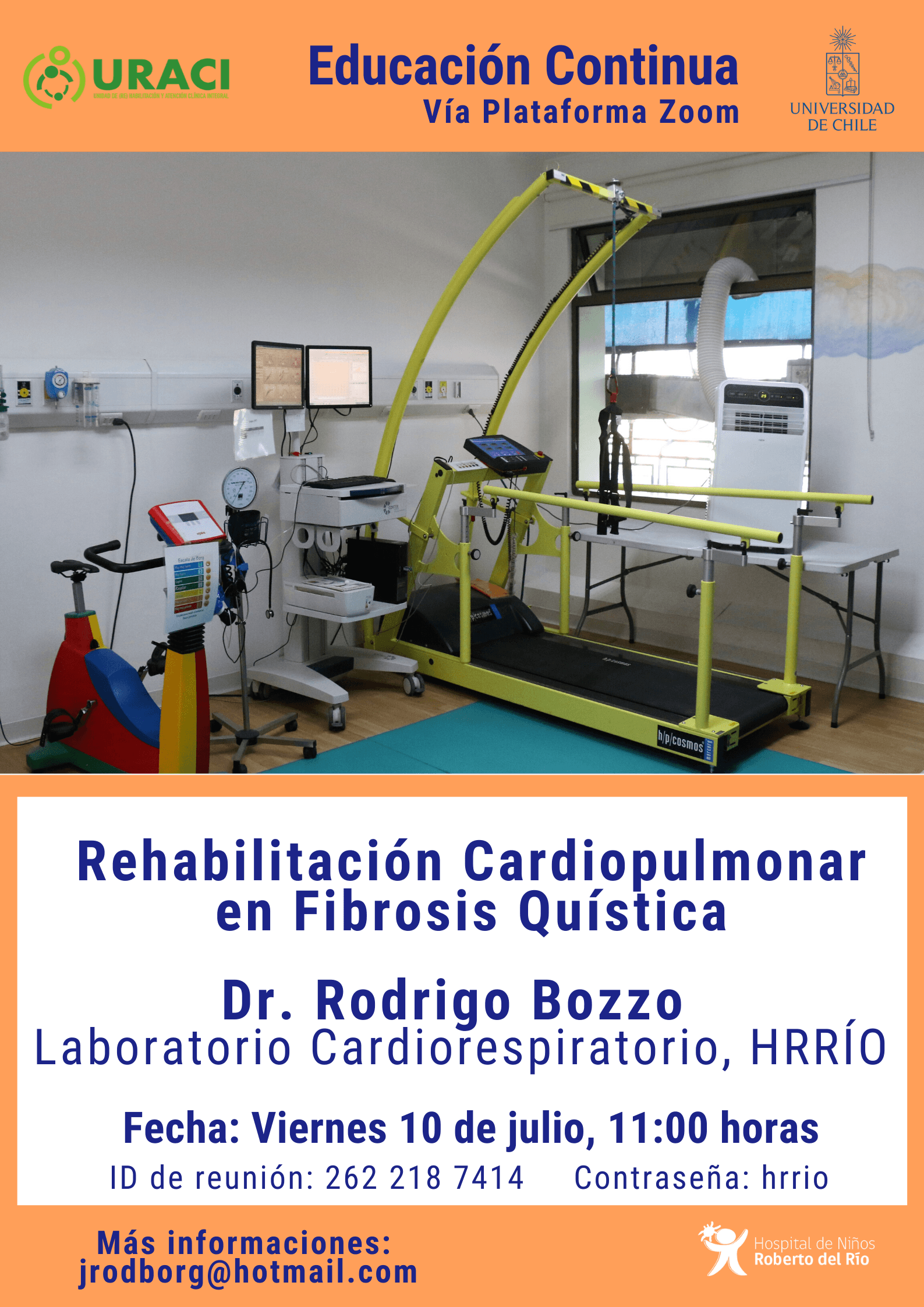 "Tema: ""Rehabilitación Cardiopulmonar en Fibrosis Quística"""