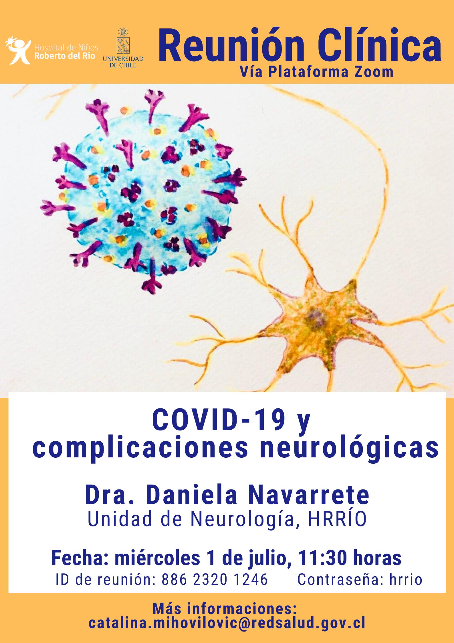 """Tema: """"Covid-19 y complicaciones neurológicas"""""""