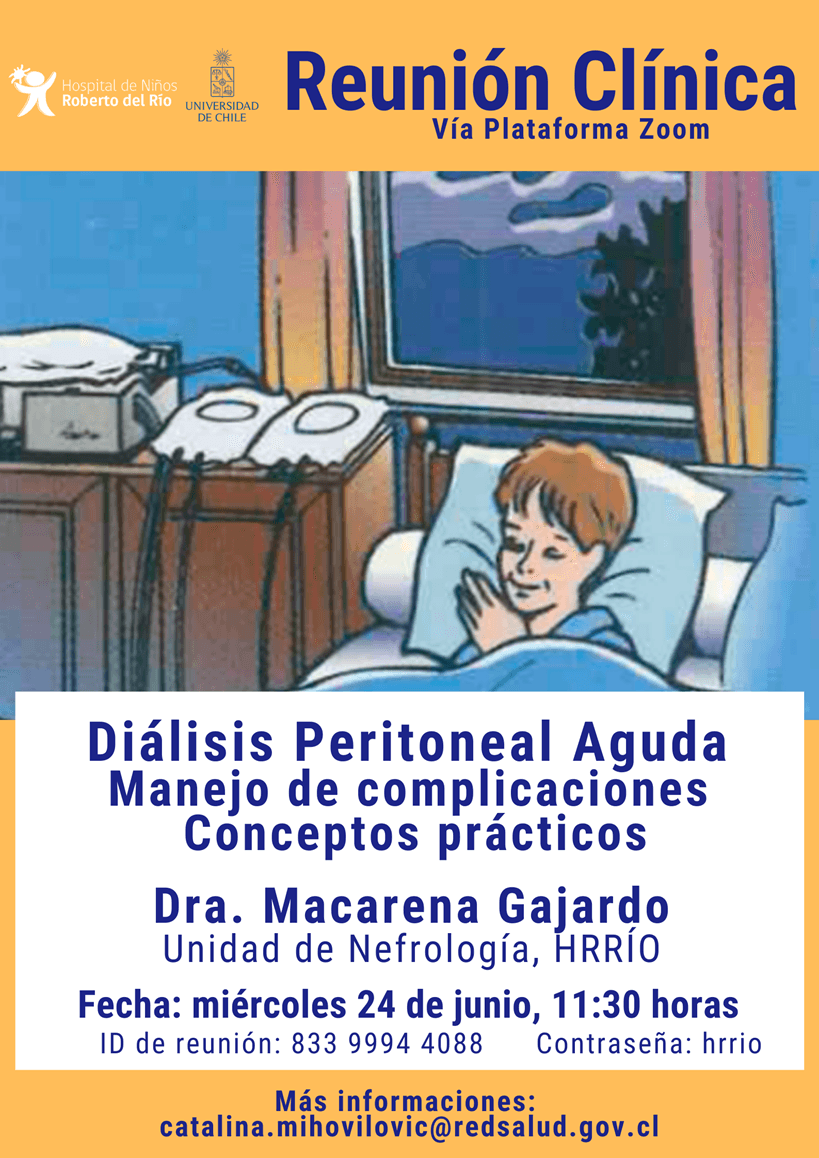 """Tema: """"Diálisis Peritoneal Aguda, manejo de complicaciones y conceptos prácticos"""""""