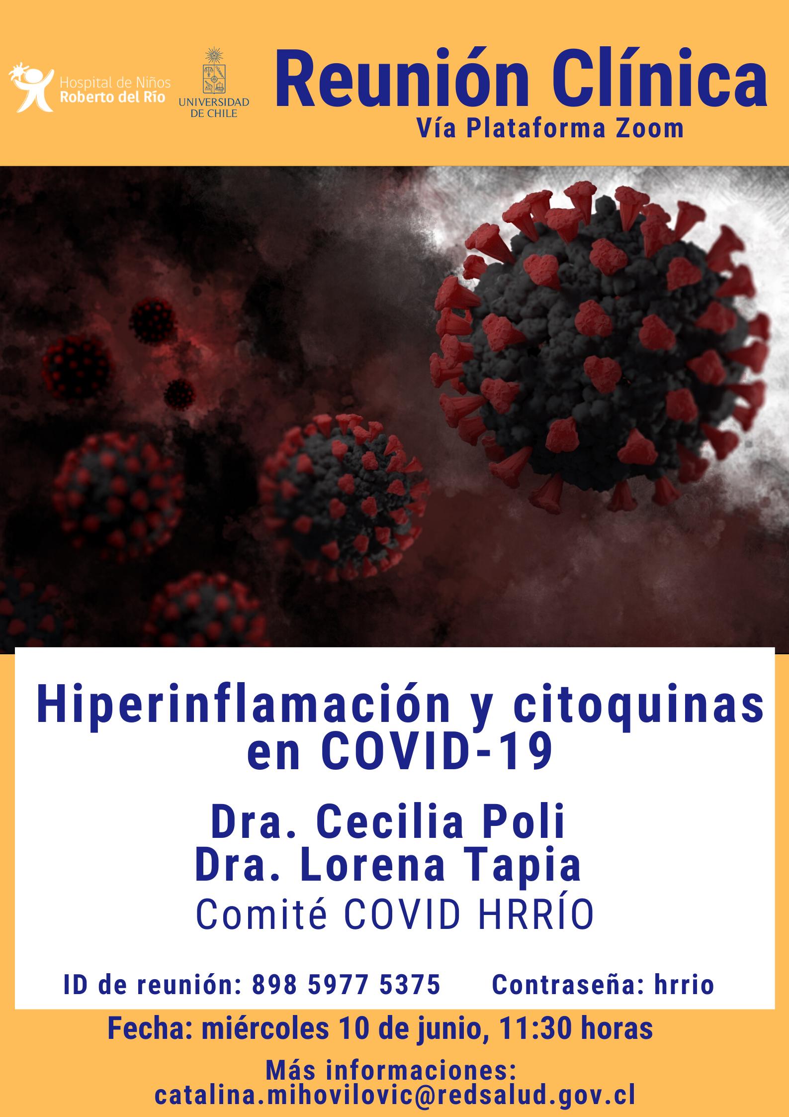 """Tema: """"Hiperinflamación y citoquinas en Covid-19"""""""