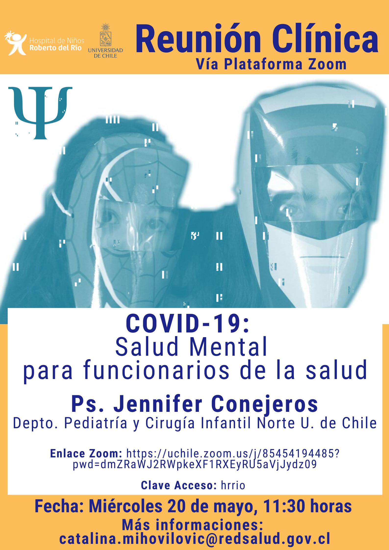"""Tema: COVID-19 """"Salud mental para funcionarios de la salud"""""""