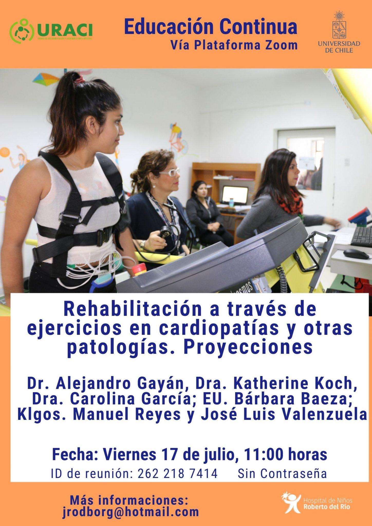 """Tema: """"Rehabilitación a través de ejercicios en cardiopatías y otras patologías. Proyecciones"""""""