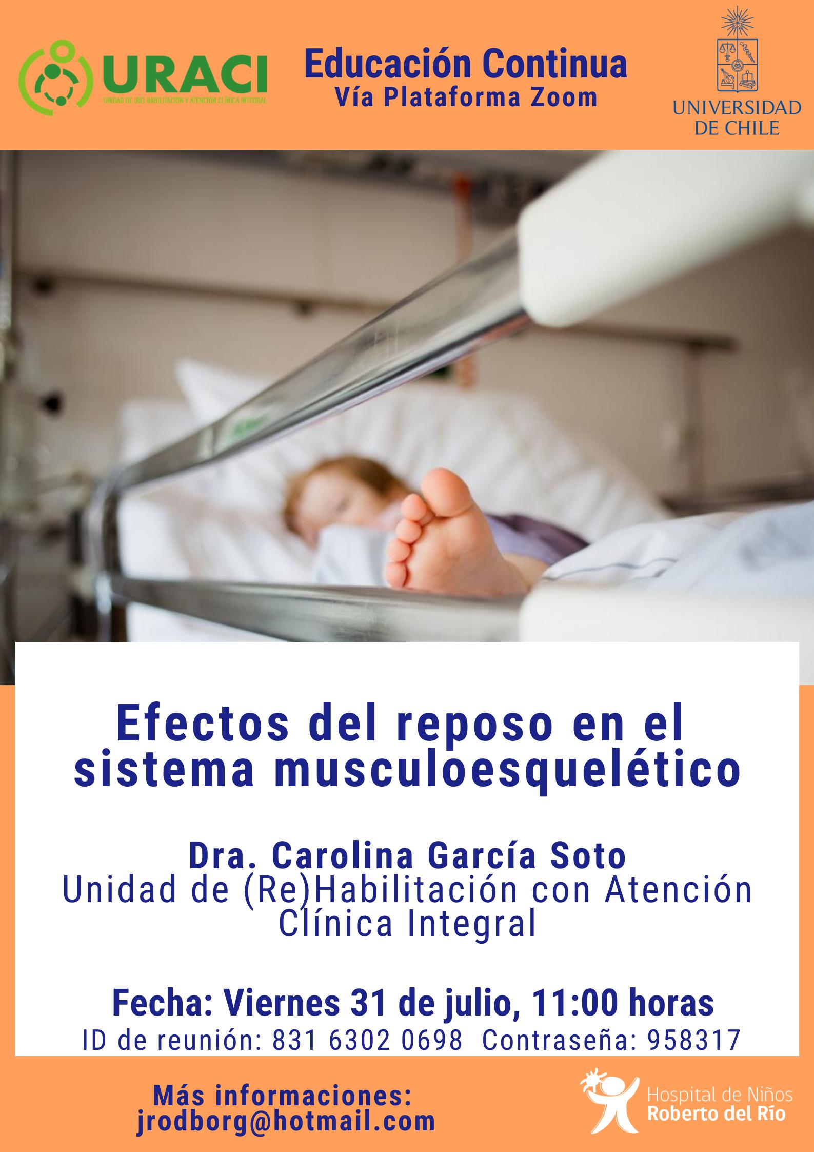 """Tema: """"Efectos del reposo en el sistema musculoesquelético"""""""
