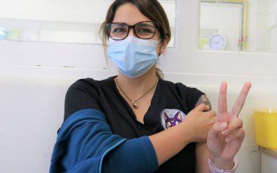 81,6% de funcionarios vacunados y nos preparamos para la segunda dosis