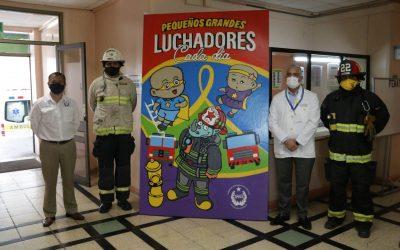 Hospital Roberto del Río recibió a los Bomberos de Santiago en el «Día Internacional contra el Cáncer Infantil»